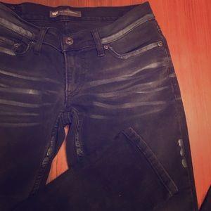 Levi's Jeans - Levi's Too Superlow Black Distressed Jeans 3/ 26